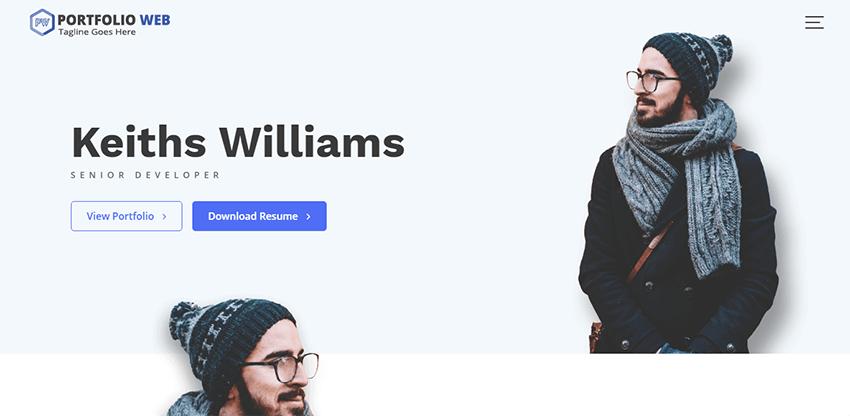 Portfolio Web - It is a free theme for creating a minimalist portfolio website with WordPress