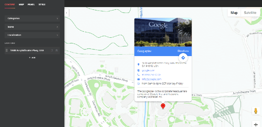 WordPress Google Maps Plugin - a WordPress plugin that help you to manage your maps on the site