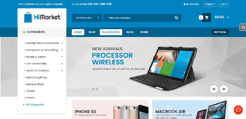 HiMarket - Professional WordPress theme for online stores