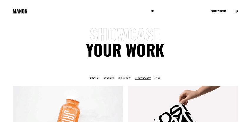 Manon - Portfolio WordPress theme with a minimalistic design