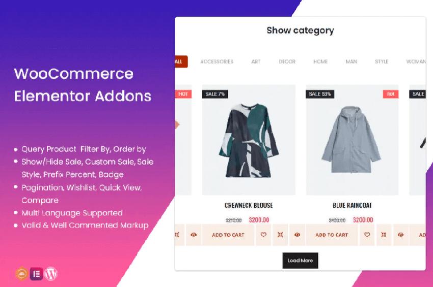 WooCommerce Elementor addons - useful widgets for the Elementor page builder