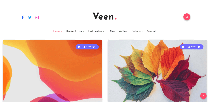 Veen - a simple, fast, and lightweight theme for online magazines