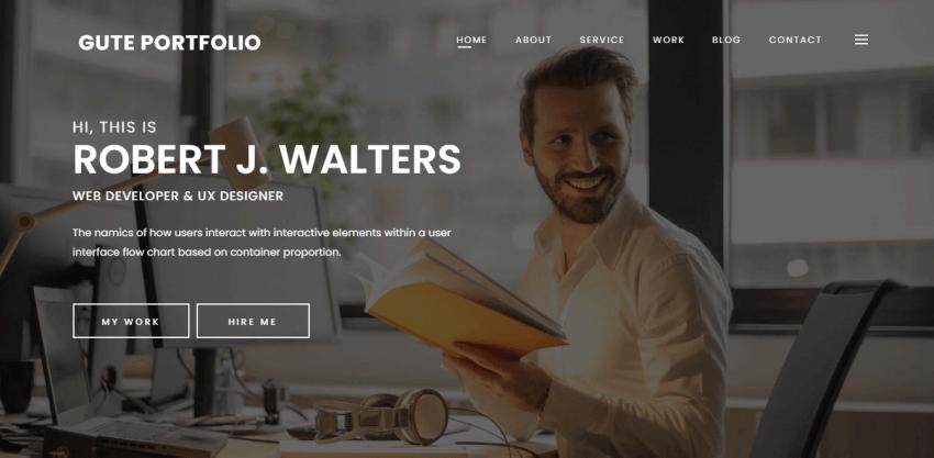 Gute Portfolio - Elegant WordPress theme to create portfolio websites