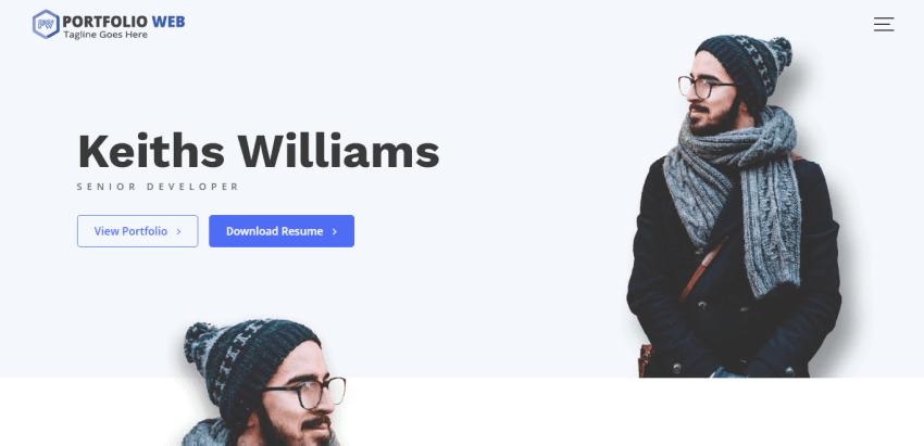 Portfolio Web - a WordPress theme for professionals