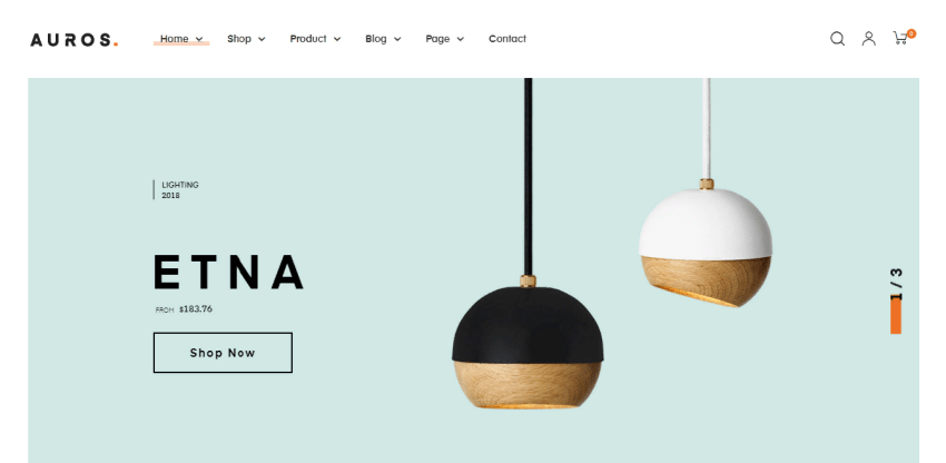 Auros is a minimalist Woocommerce theme for online stores