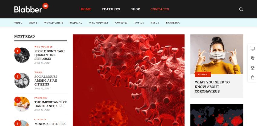 Blabber - beautiful blog theme for WordPress
