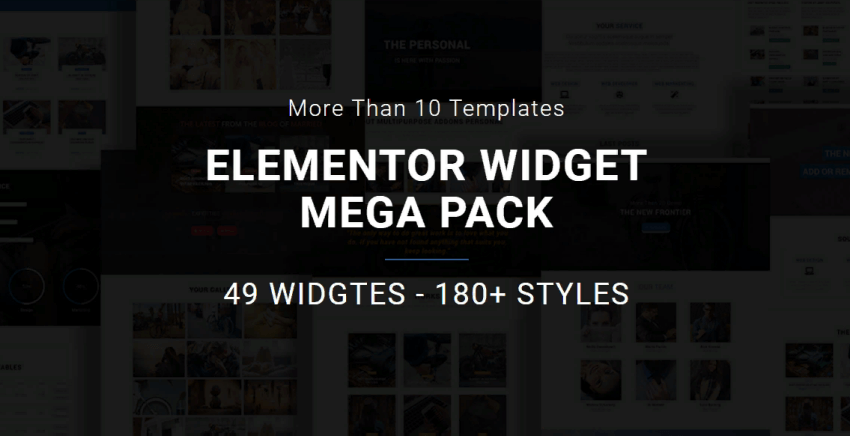 Elementor widgets - an extra add-on package for Elementor