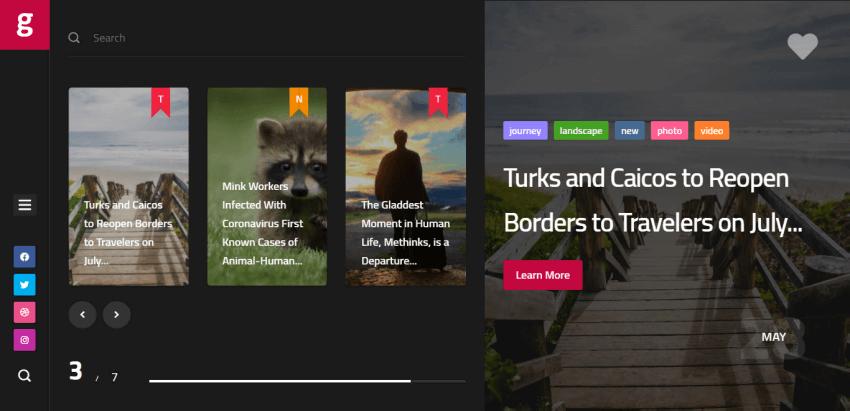 Glekk - a modern magazine theme for WordPress