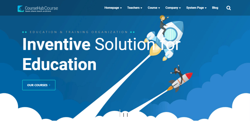 CourseHub - LMS HubSpot theme for educational purposes