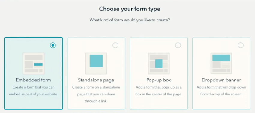 Choose your form type