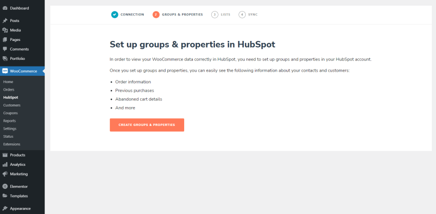 Set up groups and properties for your HubSpot account