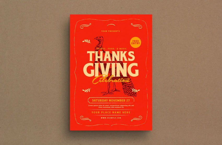 Thanksgiving Event Flyer by Guuver