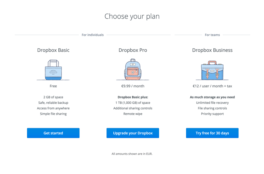 Another eye pleasing design from the Dropbox team