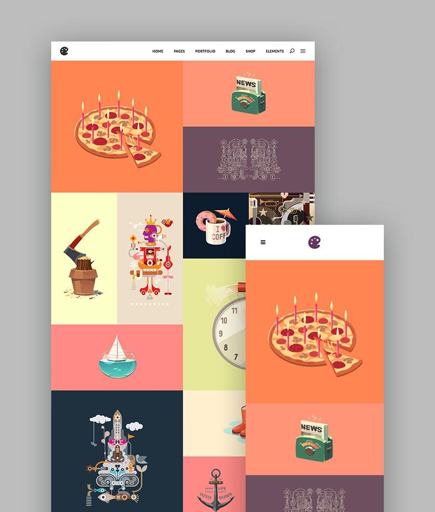 Illustrator - Ein Portfolio Theme für Illustratoren, Designer und Künstler