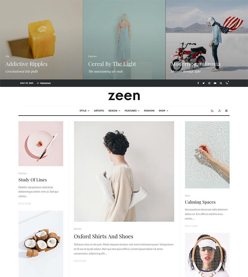 Zeen | Next Generation Magazine WordPress Theme