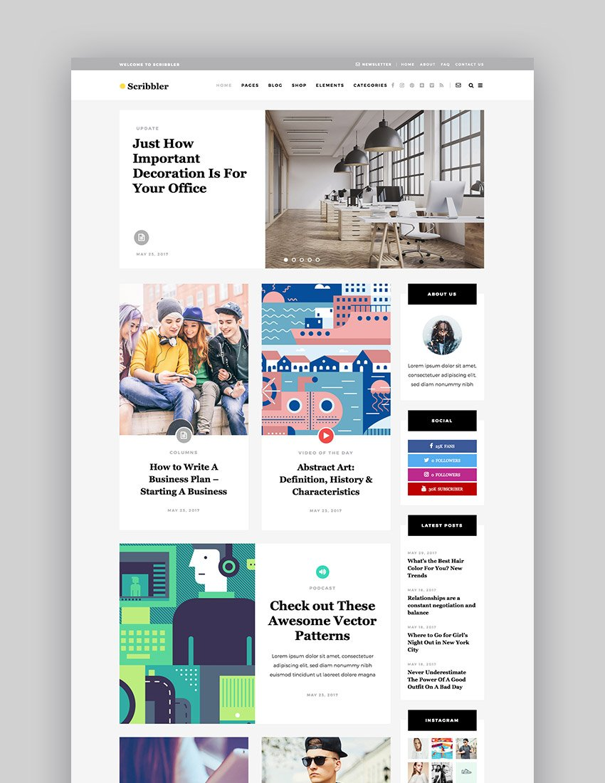 Scribbler - A Simple Theme for Blogs and Magazines
