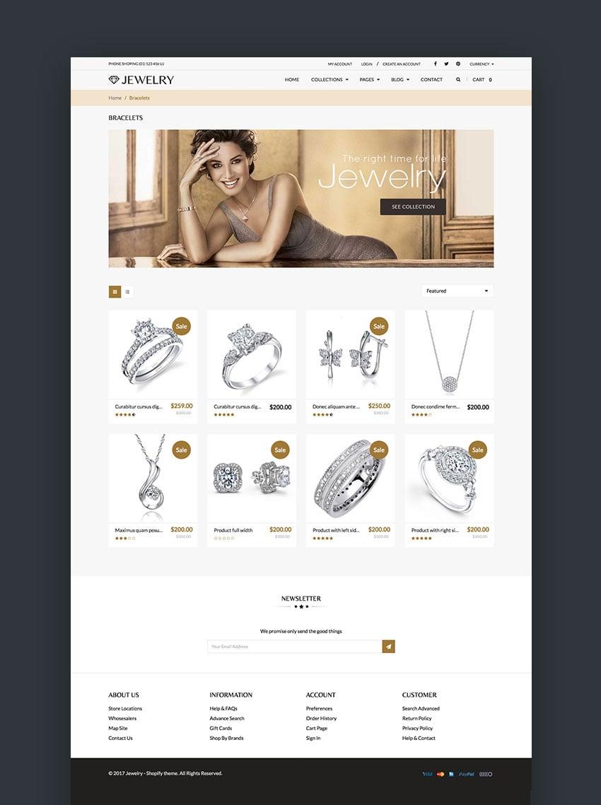 Jewelry - Elegant Shopify Theme Design