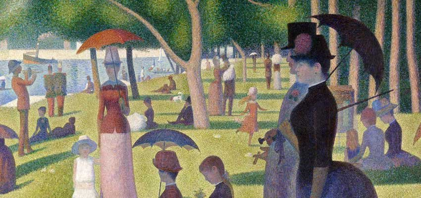 detail from a sunday afternoon on the island of la grande jatte