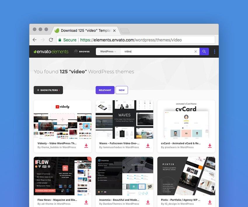 Best video WordPress themes on Envato Elements