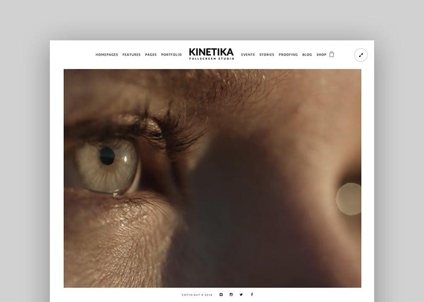 Kinetika - Fullscreen PhotographyVideo Theme