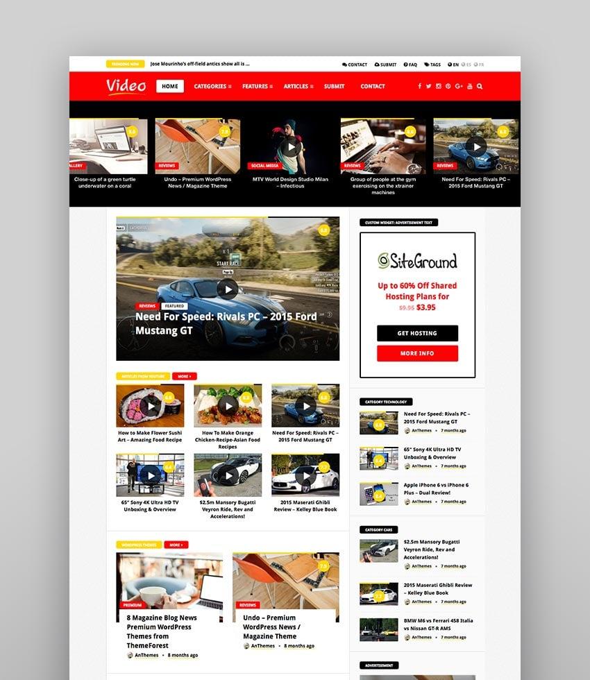 VideoNews - WordPress Magazine Theme