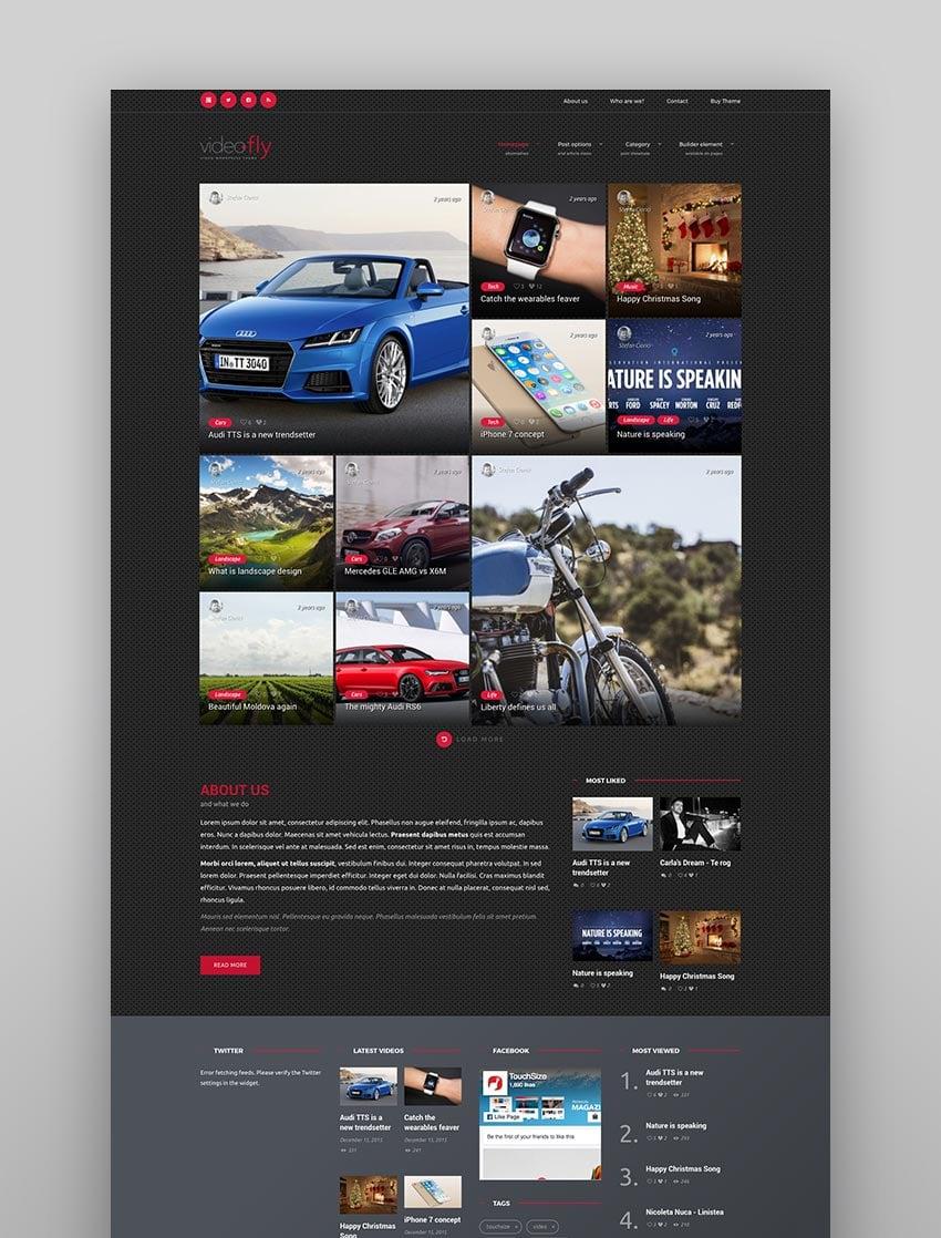 Videofly - WP Video Sharing  Portal Theme