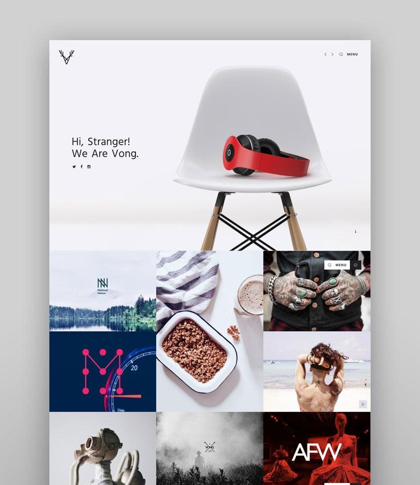 Vong - Responsive WP Portfolio Theme