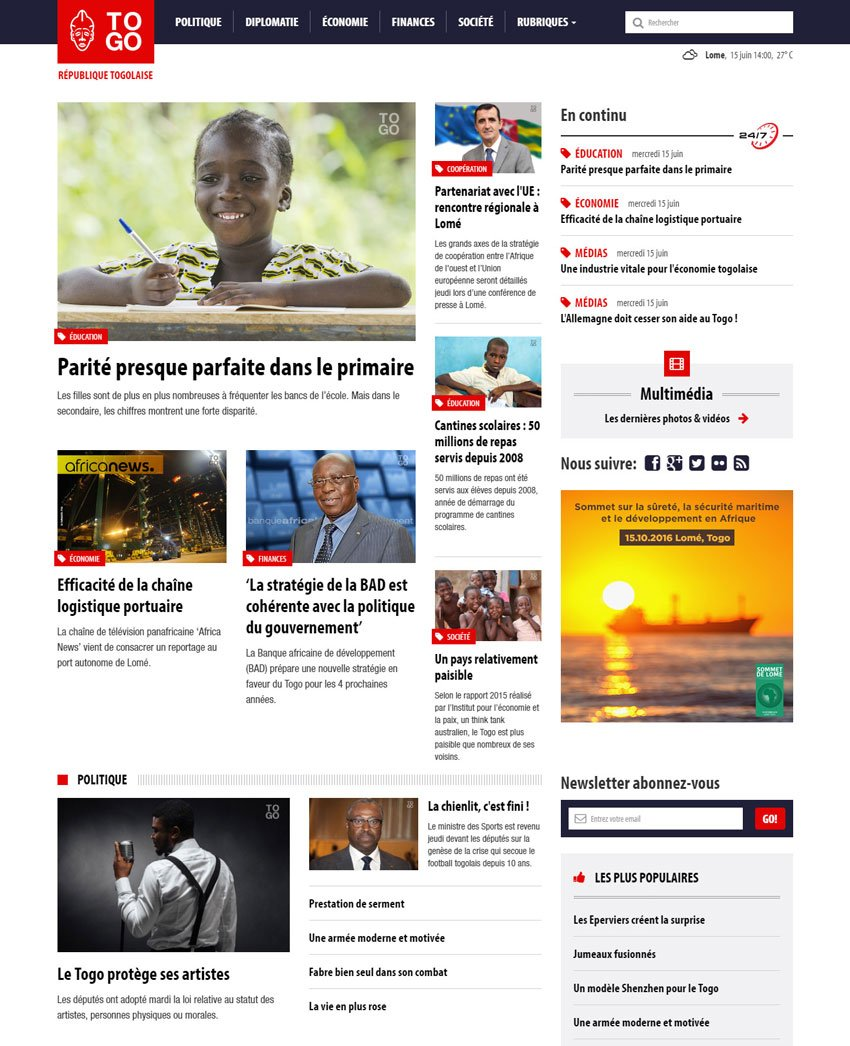 Republic of Togo official website republicoftogocom