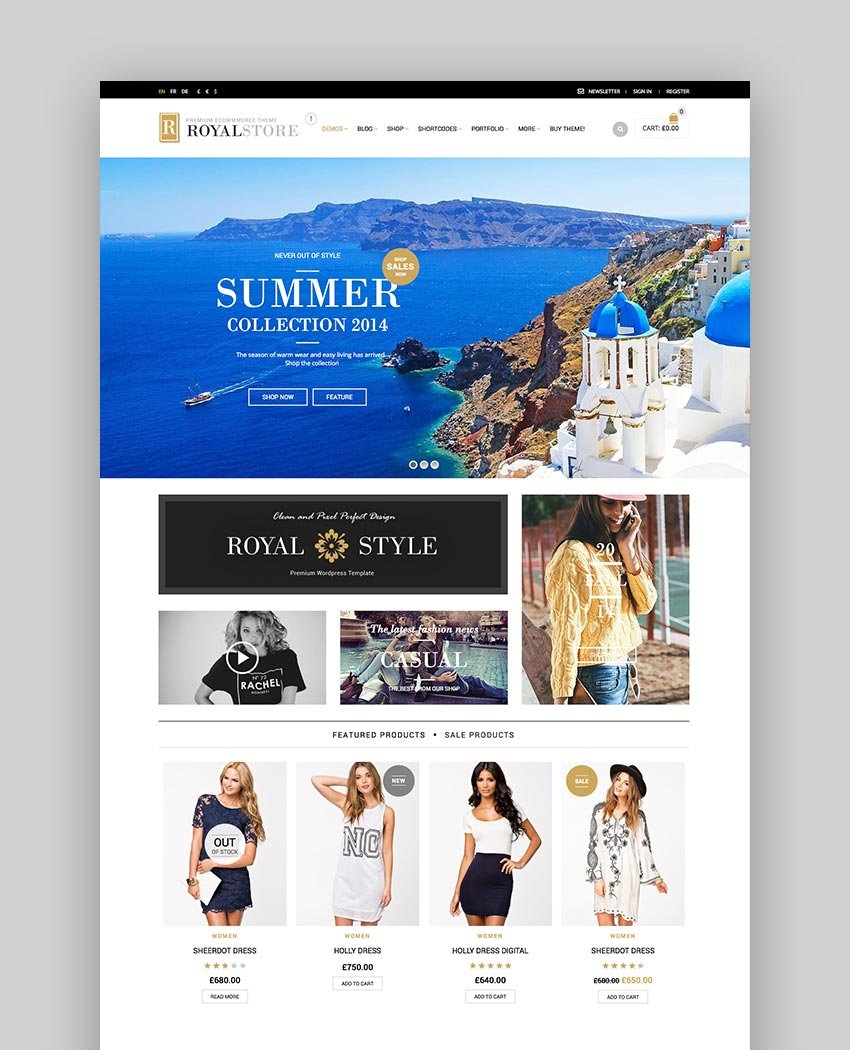 Royal WooCommerce Template