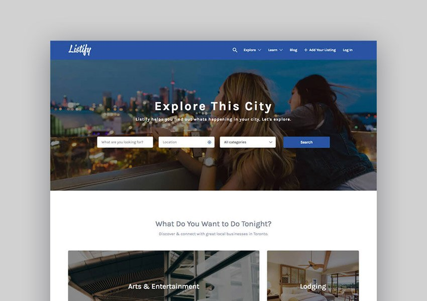 Listify - multipurpose WordPress directory theme continues to trend in 2019