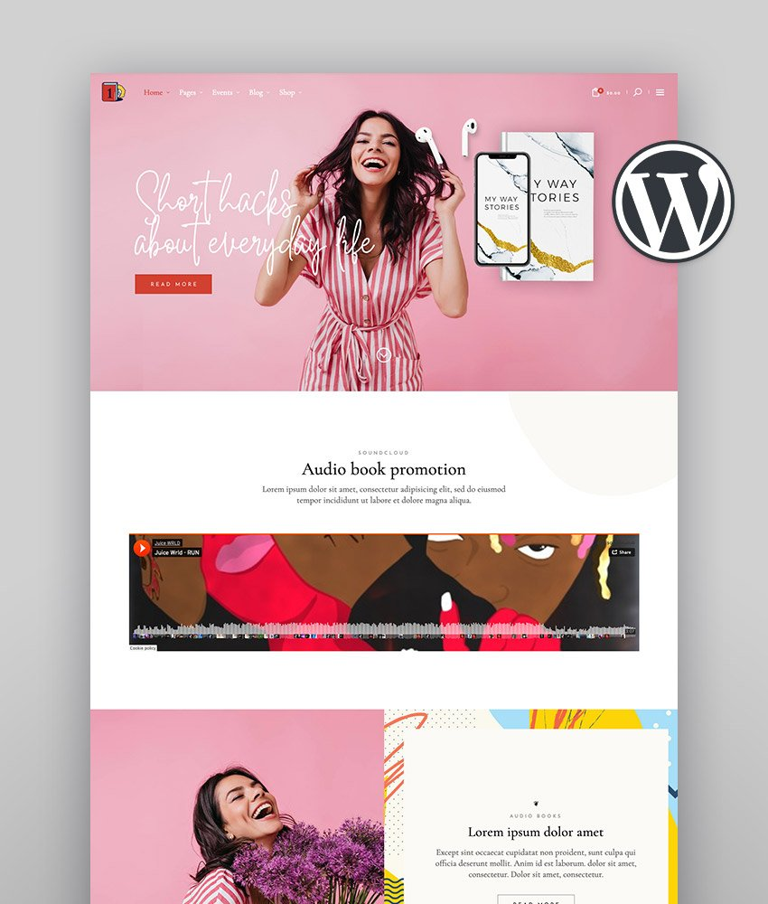 ChapterOne Author Website Template