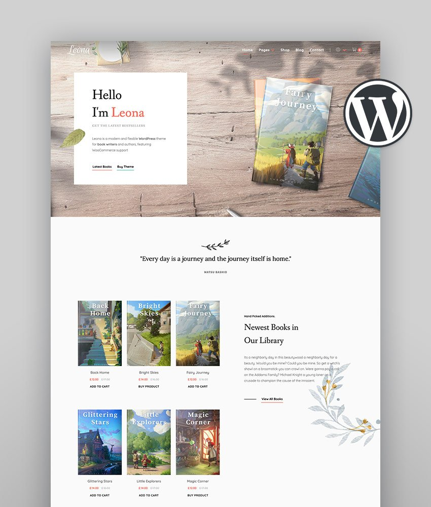 Leona - WordPress Theme for Book Writers and Authors