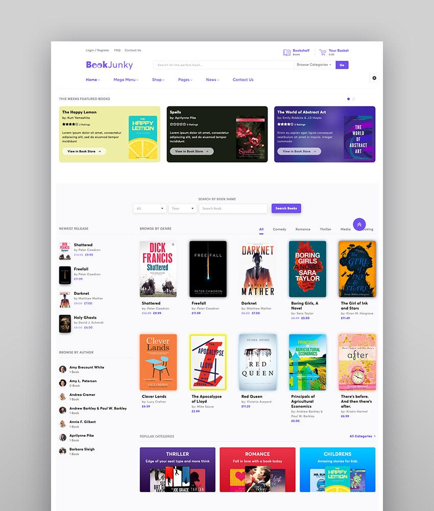 BookJunky - WooCommerce Book Store for WordPress