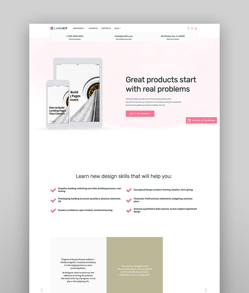 Landkit - WordPress Landing Page Theme