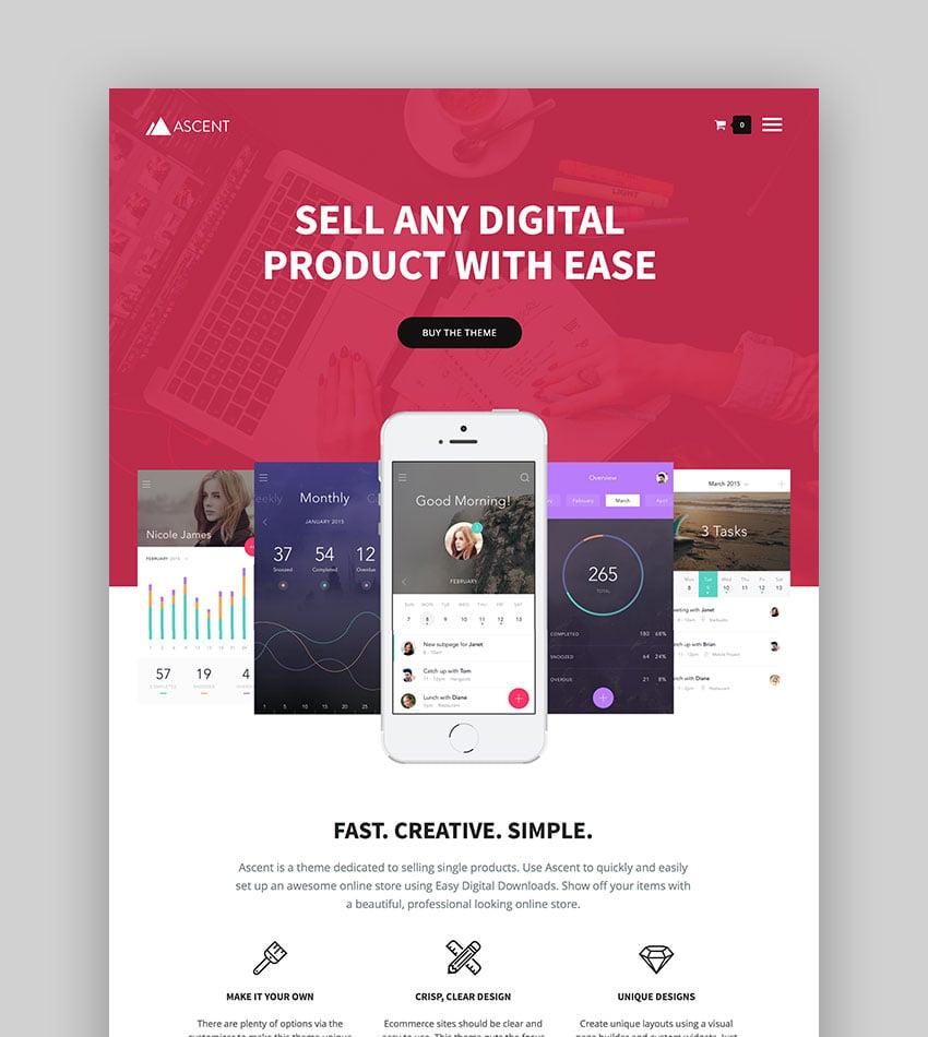 Ascent - WordPress Easy Digital Downloads Theme
