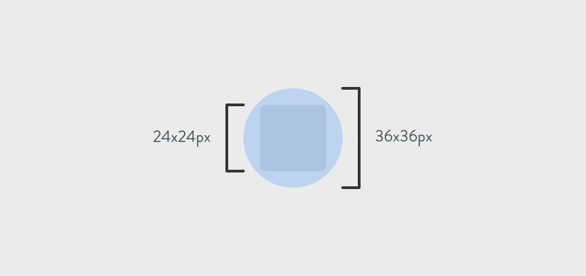 Checkbox dimensions and circle dimensions