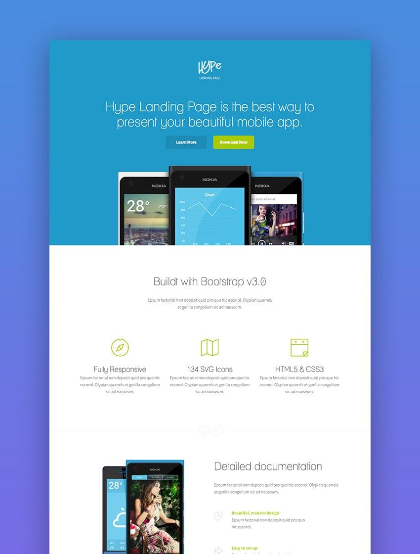 Hype - App Landing Page