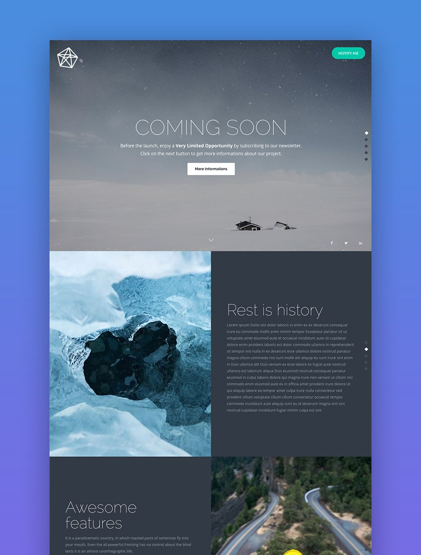 PURE - Sublime Coming Soon Template