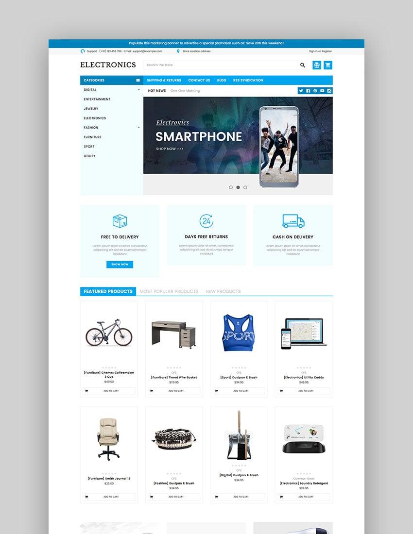 Electronics Supermarket - Electronics BigCommerce Theme