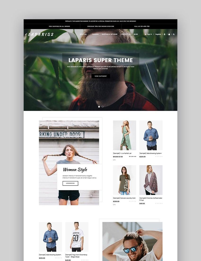 LaParis Simple Stylish BigCommerce Store Theme