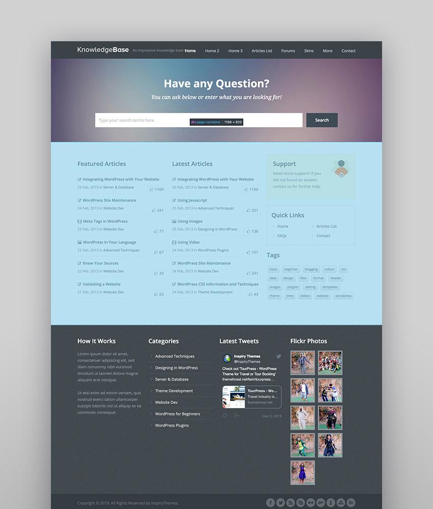 Knowledge Base - Un tema de wiki para WordPress