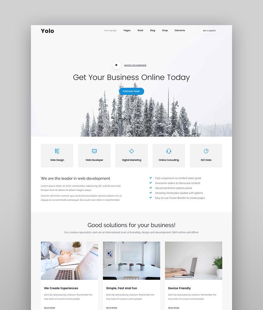 Yolo Multi-Purpose Creative WordPress Themes