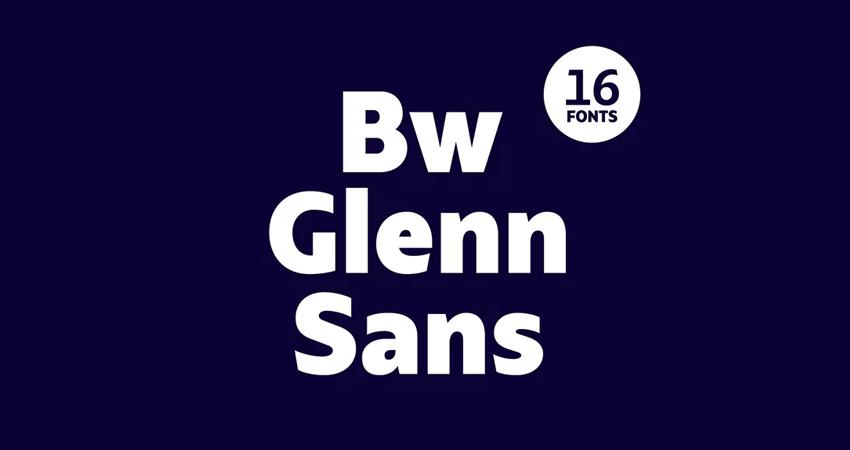 Bw Glenn Sans font family by bwtype
