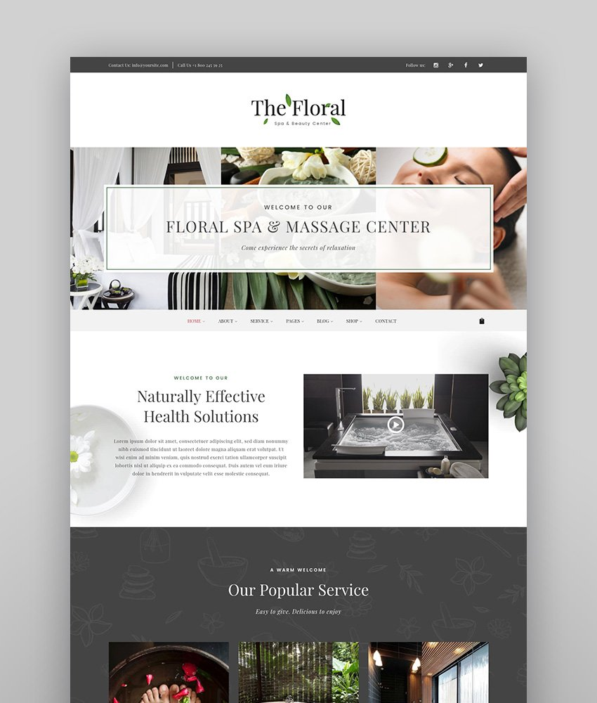Floral - Spa and Beauty Responsive WordPress Theme