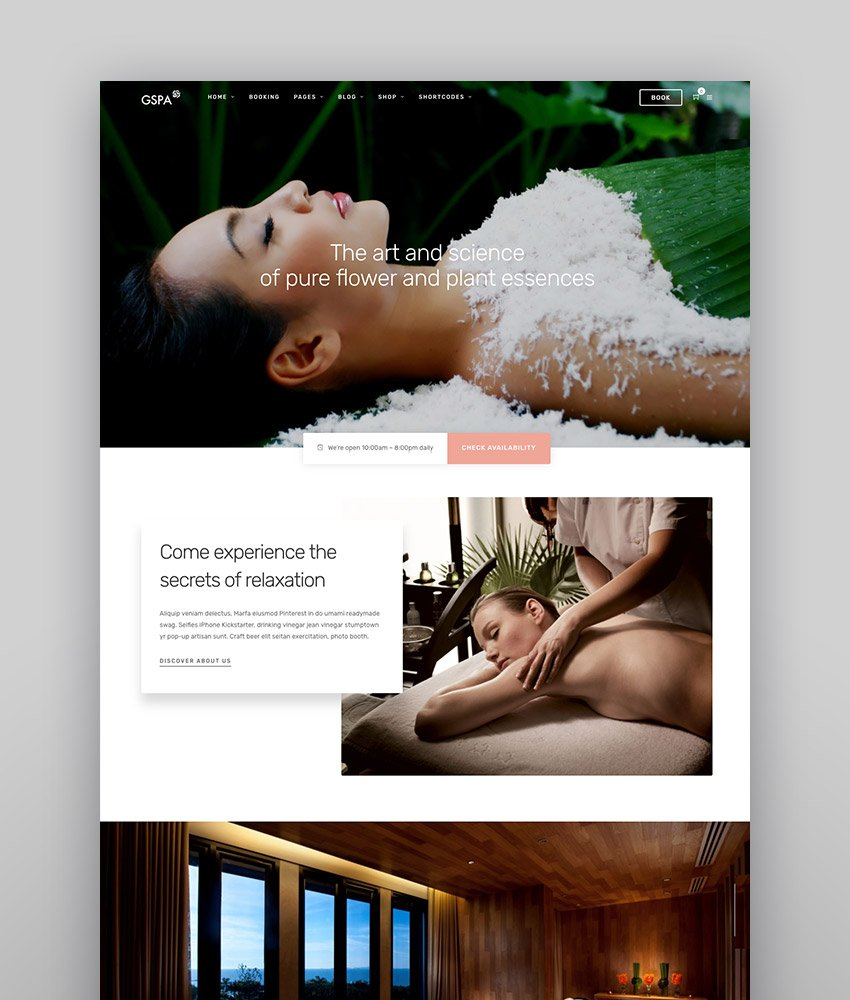 Grand Spa Spa Beauty WordPress for Spa and Beauty