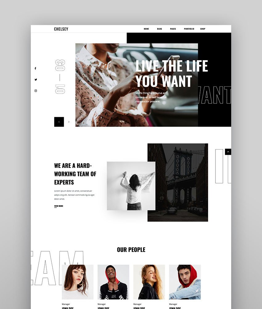 Chelsey - A Creative Multipurpose Theme for Freelancers and Agencies