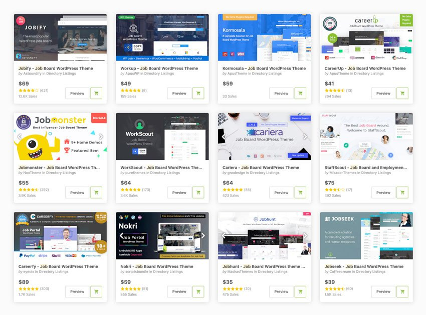 Best job board WordPress themes available for download on ThemeForest 2020