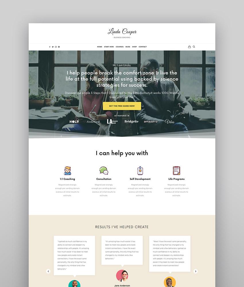 Efor - Coaching  Online Courses WordPress Theme