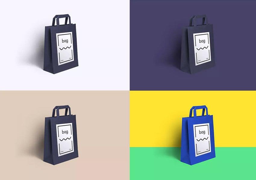 Premium Paper Bag Mockup