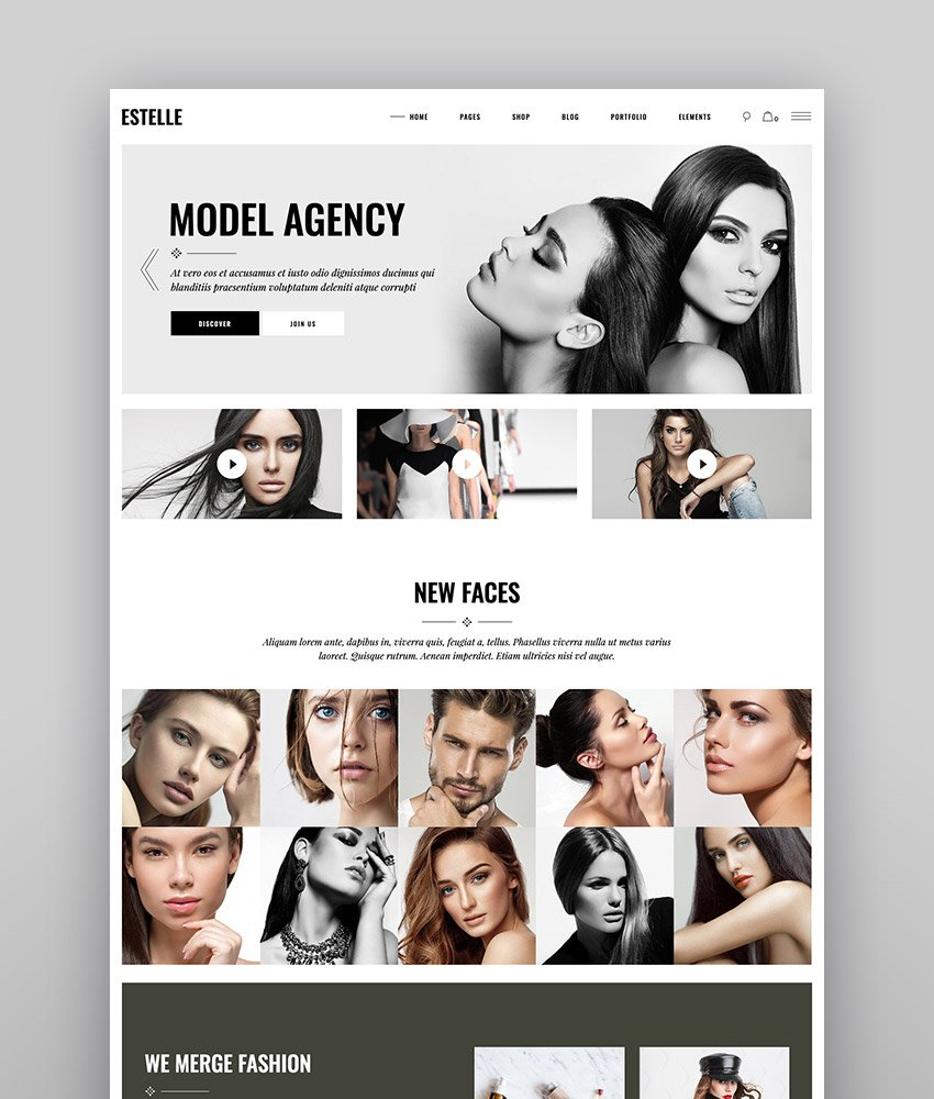 Estelle - Fashion and Modelling Agency Theme